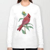 virginia Long Sleeve T-shirts featuring Virginia Cardinal by ArtLovePassion