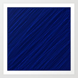 Royal ornament of their dark threads and blue intersecting fibers. Art Print