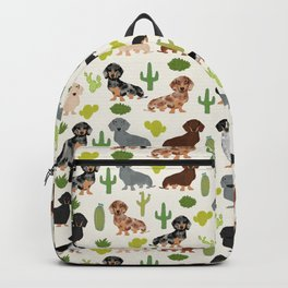 Dachshund cactus southwest dog breed gifts must have doxie dachsies Backpack