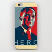 hero iPhone & iPod Skins featuring Hero by Skylofts Merch