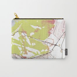 Abu Dhabi Street Map Art Watercolor Light Carry-All Pouch