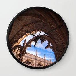 Cloisters of Jeronimos Monastery in Lisbon, Portugal Wall Clock