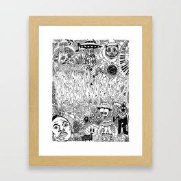 hulaween b/w Framed Art Print