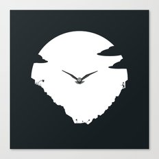 Moon Owl Canvas Print