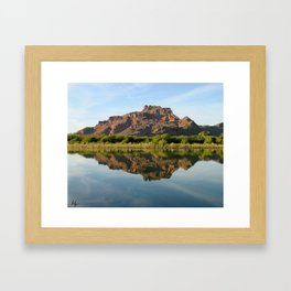 Red Mountain Reflections Framed Art Print
