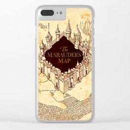 Marauders Map Clear iPhone Case