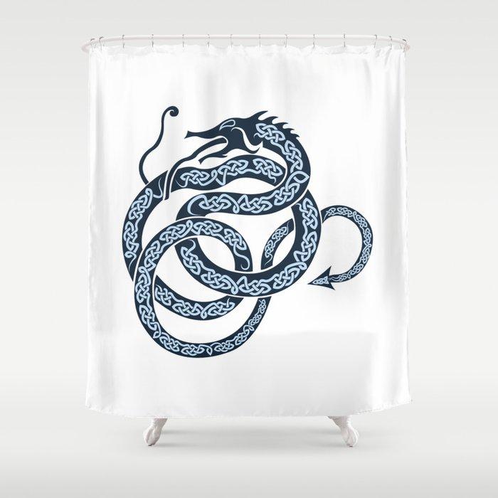 Norse Dragon Shower Curtain