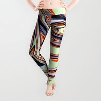 oil Leggings featuring Oil and Water by Jessielee