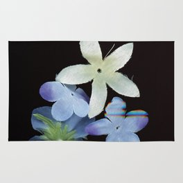 Artificial Flowers Glitched Scan Rug