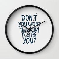 darren criss Wall Clocks featuring Darren Criss - Don't You? by Jessica