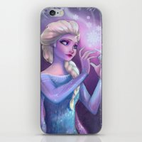 elsa iPhone & iPod Skins featuring Elsa by Red Red Telephone