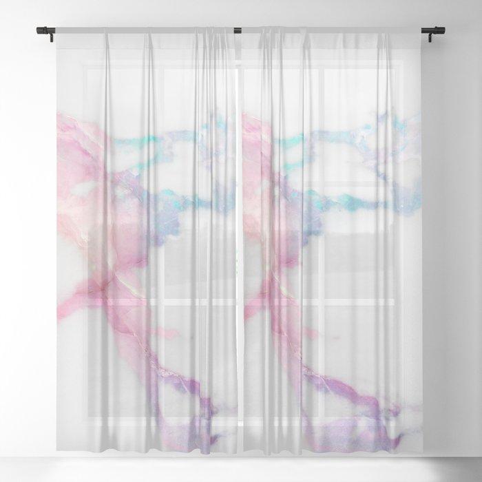 Unicorn Vein Marble Sheer Curtain