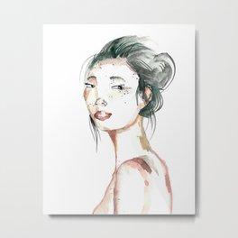 japanese girl Metal Print