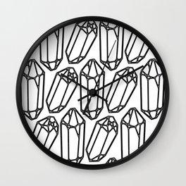 Quartz Crystal Print Wall Clock