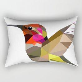 Pink hummingbird geometric bird Tropical Nature Rectangular Pillow