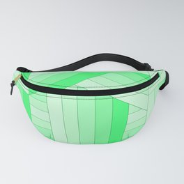 Green Stripes Fanny Pack