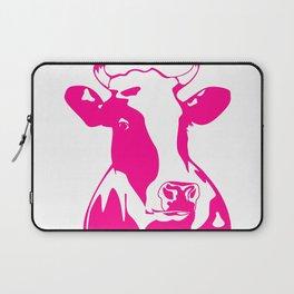 Animal Art Pink Cow Laptop Sleeve