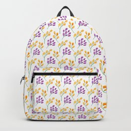 purple and marigold blossoms Backpack