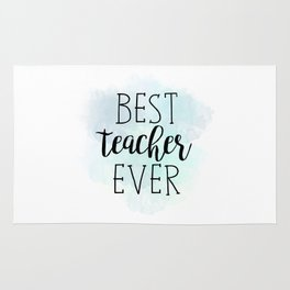Best Teacher Ever Rug