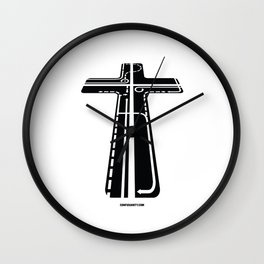 Confusianity (black on white) Wall Clock