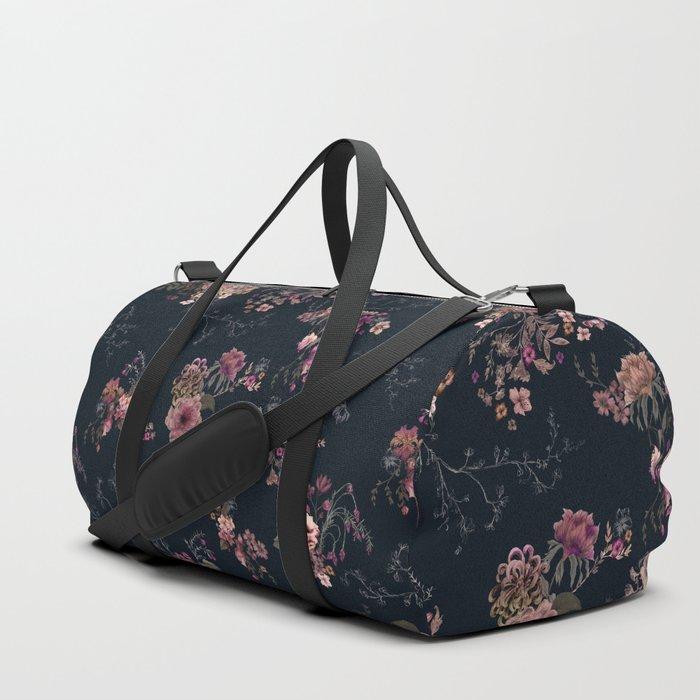 Japanese Boho Floral Duffle Bag