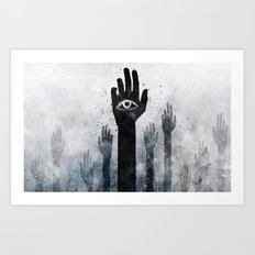 Hands & Eyes #Abstract Art Print