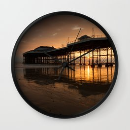 Cromer Pier Dawn Wall Clock