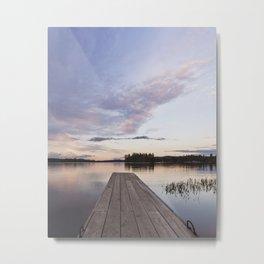 into Raquette Lake Metal Print