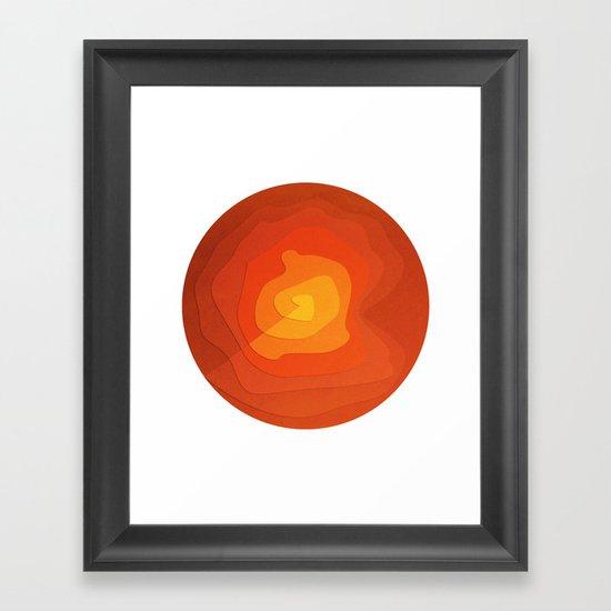 Sand Flower Framed Art Print