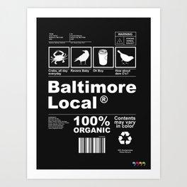 Baltimore Local Art Print