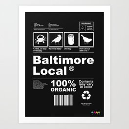 Baltimore Local Art Print