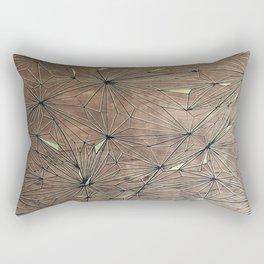 Stare Geometric Fractals on Wood Rectangular Pillow