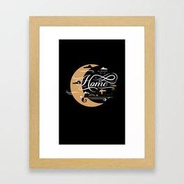 Milwaukee Home Moon Framed Art Print
