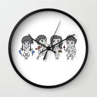 legend of korra Wall Clocks featuring Legend of Korra Chibi by Ninja Klee
