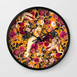 FLORAL AND BIRDS XVI Wall Clock