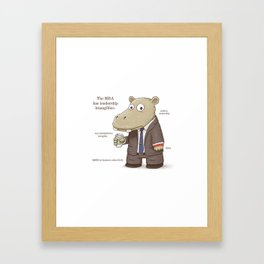 The MBA Framed Art Print