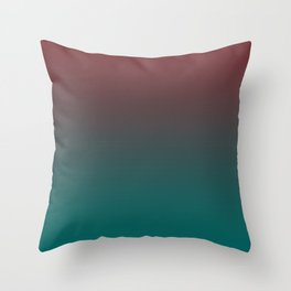 Ombre Quetzal Green Dark Red Pear Gradient Pattern Throw Pillow