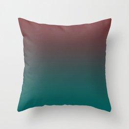 Ombre Quetzal Green Dark Red Pear Gradient Pattern Throw Pillow