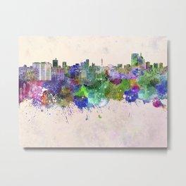 Sendai skyline in watercolor background Metal Print