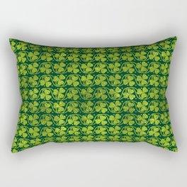 Irish Shamrock -Clover Green Glitter pattern Rectangular Pillow
