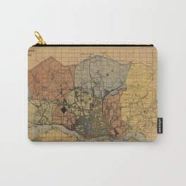 Vintage Map of Porto Portugal (1903) Carry-All Pouch