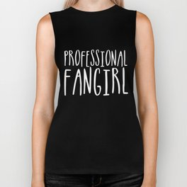 Professional fangirl inverted Biker Tank