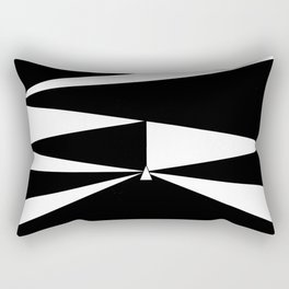 Triangles in Black and White Rectangular Pillow