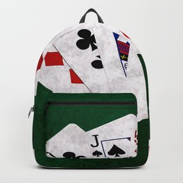 Poker Hand One Pair Ten Jack Five Four Backpack