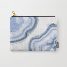 Airy Blue Agate Carry-All Pouch
