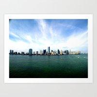 miami Art Prints featuring Miami  by JairovPhotolab