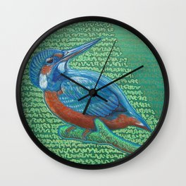 Kingfisher & Code (I KNOW It Means SOMEthing...) Wall Clock