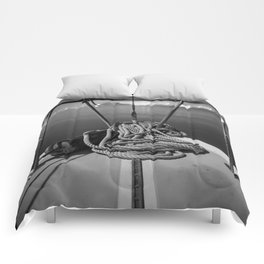 Black and White Boat Life Comforters