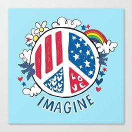 Imagine Love Imagine Peace Canvas Print
