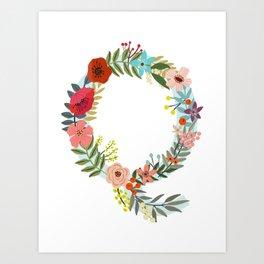 Monogram Letter Q Art Print